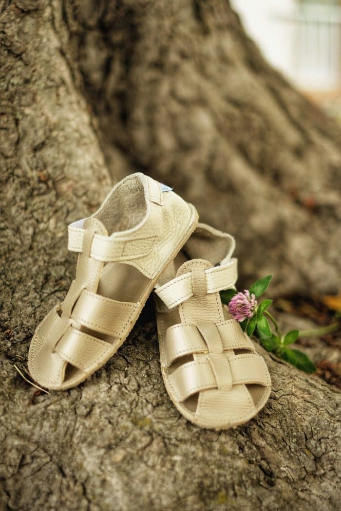 Baby Bare Shoes - Sandals Summer New - Gold 2