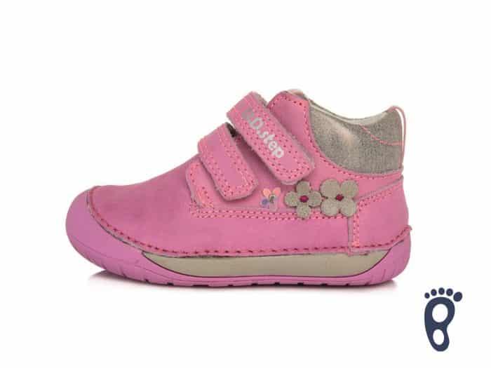 D.D.Step - Prechodné topánky - Dark Pink - Kvietky 1