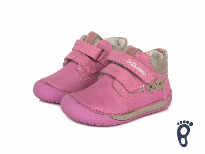 D.D.Step - Prechodné topánky - Dark Pink - Kvietky 2
