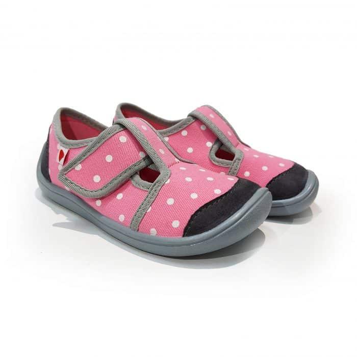 Anatomic - Dievčenské papučky/tenisky - Svetloružové s bodkami - BF01 1