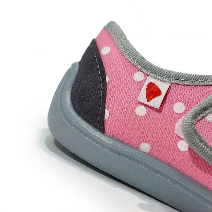Anatomic - Dievčenské papučky/tenisky - Svetloružové s bodkami - BF01 2