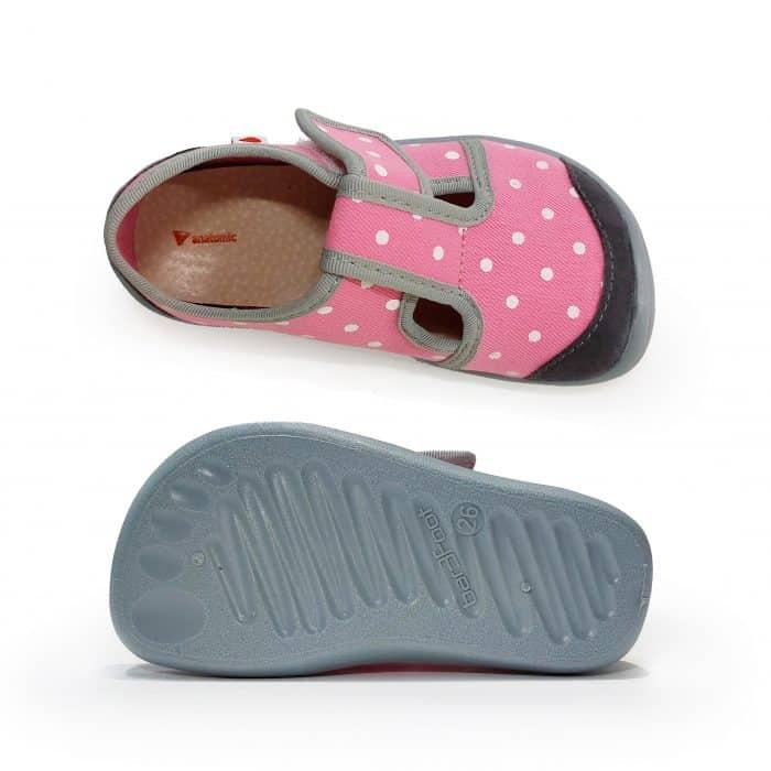 Anatomic - Dievčenské papučky/tenisky - Svetloružové s bodkami - BF01 3