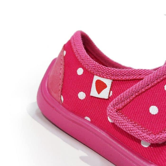 Anatomic - Dievčenské papučky/tenisky - Tmavoružové s bodkami - BF02 1