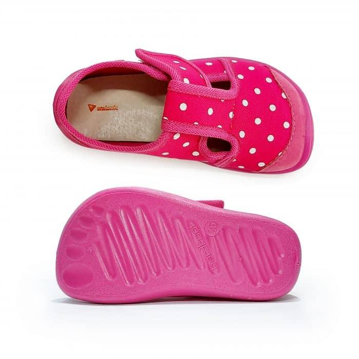 Anatomic - Dievčenské papučky/tenisky - Tmavoružové s bodkami - BF02 2