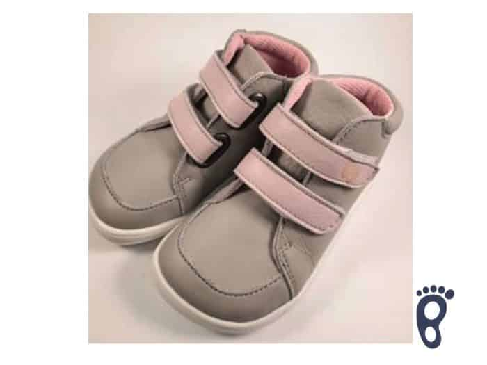 Baby Bare Shoes - FEBO FALL - Grey/Pink s membránou 1