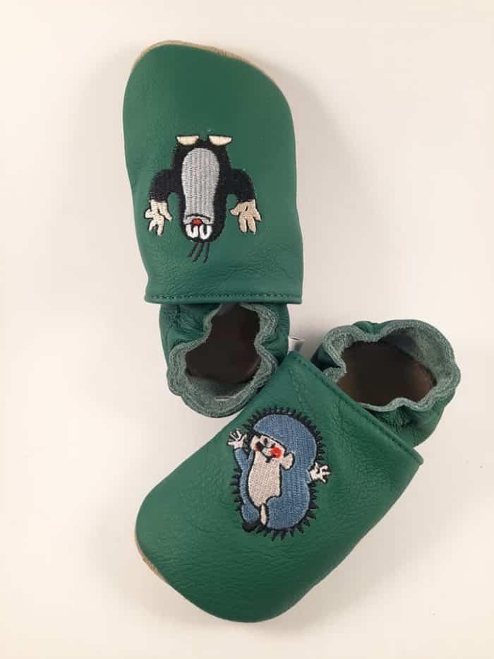 BaBice - Krtko s ježkom - Zelené - vyšívané 1