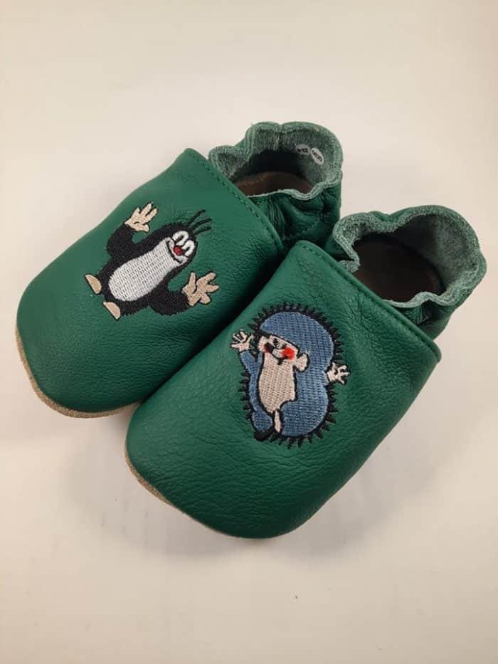 BaBice - Krtko s ježkom - Zelené - vyšívané 2