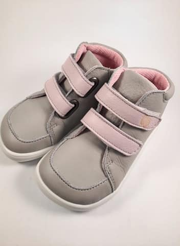 Baby Bare Shoes - FEBO FALL - Grey/Pink s membránou 2