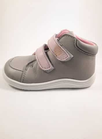 Baby Bare Shoes - FEBO FALL - Grey/Pink s membránou 3