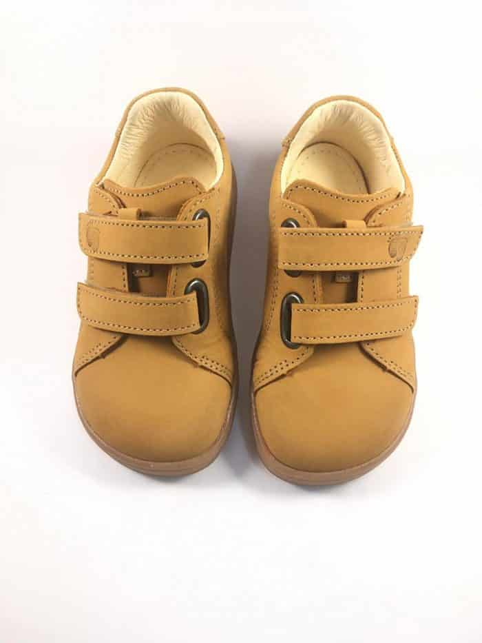 Baby Bare Shoes - FEBO Spring - Mustard Nubuk 2