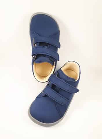 Baby Bare Shoes - FEBO Spring - Navy Velour 2