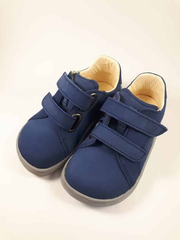 Baby Bare Shoes - FEBO Spring - Navy Velour 4