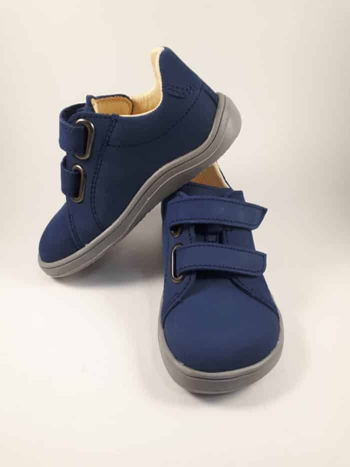 Baby Bare Shoes - FEBO Spring - Navy Velour 5