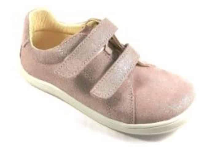 Baby Bare Shoes - FEBO Spring - Sparkle Pink Velour 1