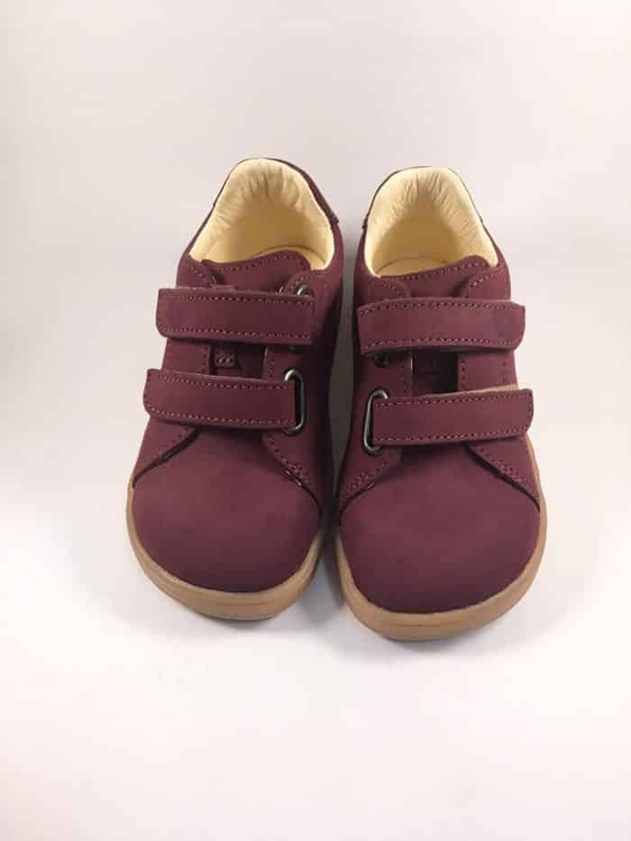 Baby Bare Shoes - FEBO Spring - Wine Nubuk 2