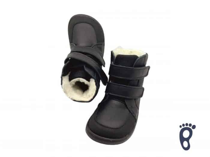 Baby Bare Shoes - FEBO WINTER - Black Asfaltico 2