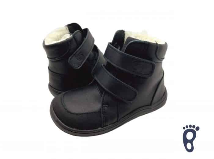Baby Bare Shoes - FEBO WINTER - Black Asfaltico 3
