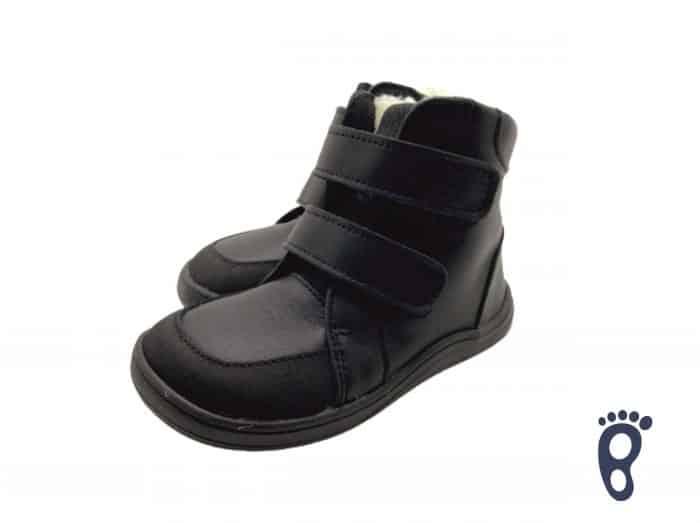 Baby Bare Shoes - FEBO WINTER - Black Asfaltico 1