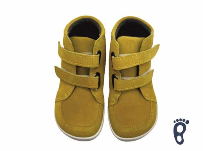 Baby Bare Shoes - FEBO FALL - Mustard - Velúrová koža 1