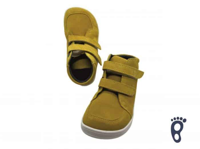Baby Bare Shoes - FEBO FALL - Mustard - Velúrová koža 4