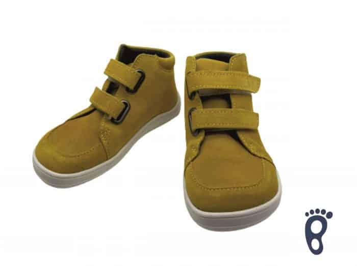 Baby Bare Shoes - FEBO FALL - Mustard - Velúrová koža 3