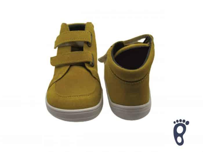 Baby Bare Shoes - FEBO FALL - Mustard - Velúrová koža 2