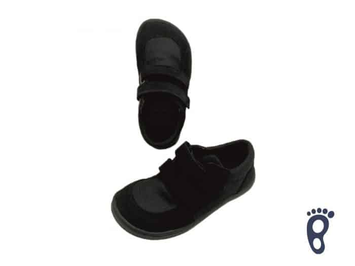 Baby Bare Shoes - FEBO Sneakers - Black 1