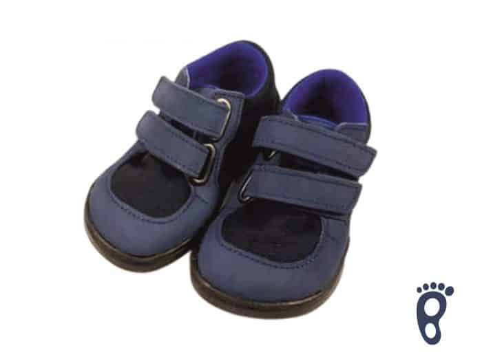 Baby Bare Shoes - FEBO Sneakers - Navy/čierna podrážka 1
