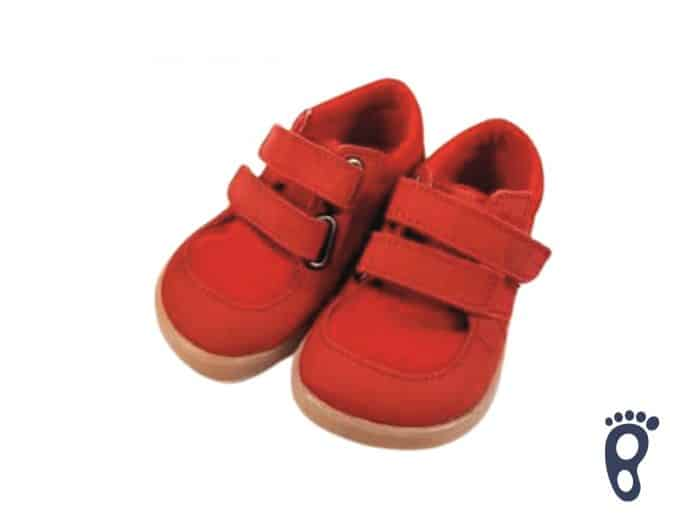 Baby Bare Shoes - FEBO Sneakers - Red/Resina 1