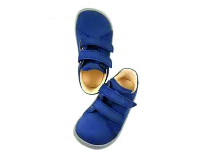 Baby Bare Shoes - FEBO Spring - Navy Velour 1