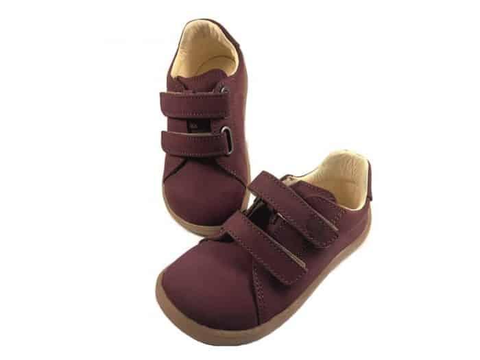 Baby Bare Shoes - FEBO Spring - Wine Nubuk 1