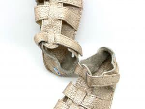 baby bare shoes summer sandals new gold barefoot sandalky