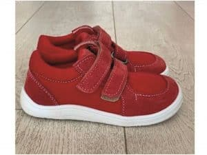 baby bare shoes sneakers red
