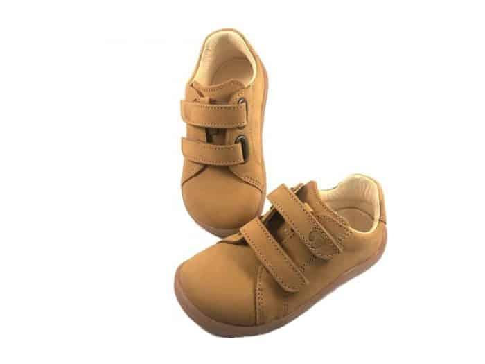 Baby Bare Shoes - FEBO Spring - Mustard Nubuk 1