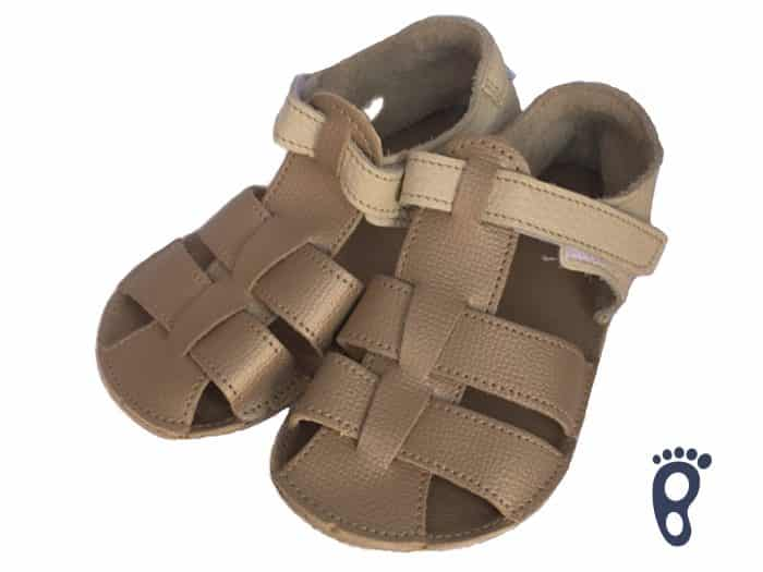 Baby Bare Shoes - Sandals Summer New - Gold 1