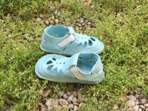 5278c87796 Baby Bare Shoes – Summer perforation – Acqua