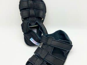 baby bare shoes summer sandals new black barefoot detske sandale sandalky