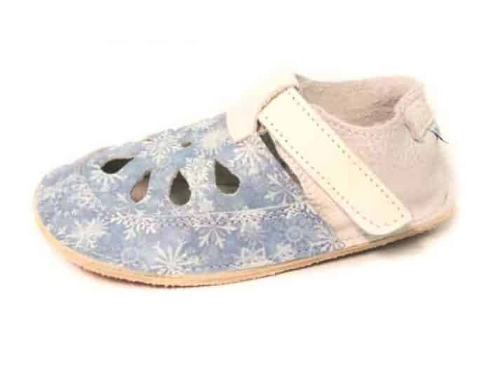 Baby Bare Shoes - Top Stitch - Snowflakes 1