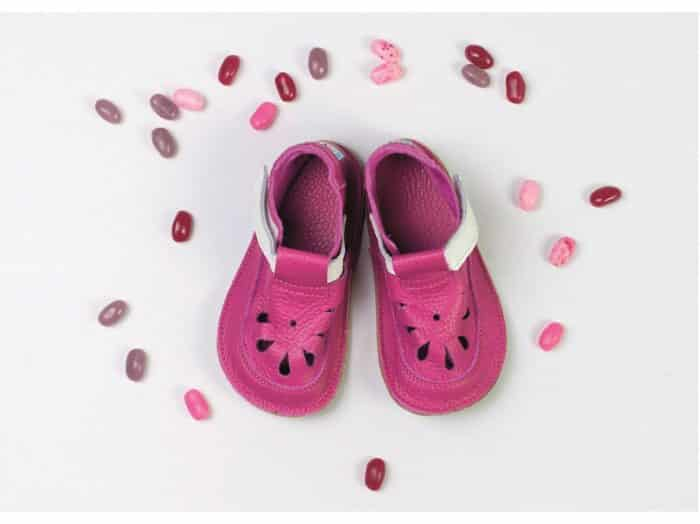 baby bare shoes waterlily top stitch