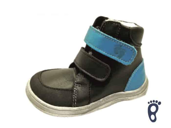 Baby Bare Shoes - Winter s membránou - Black 1