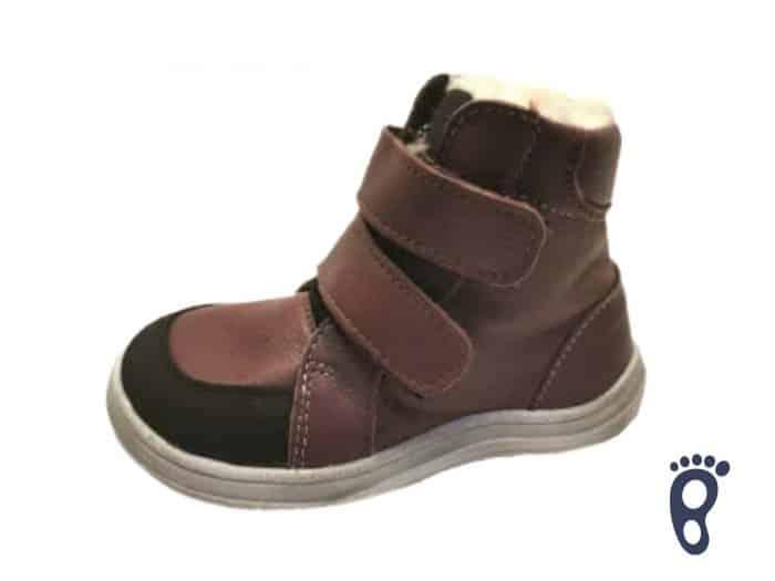 Baby Bare Shoes - Winter s membránou - Bordó 1