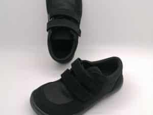 baby bare sneakers black tenisky barefoot