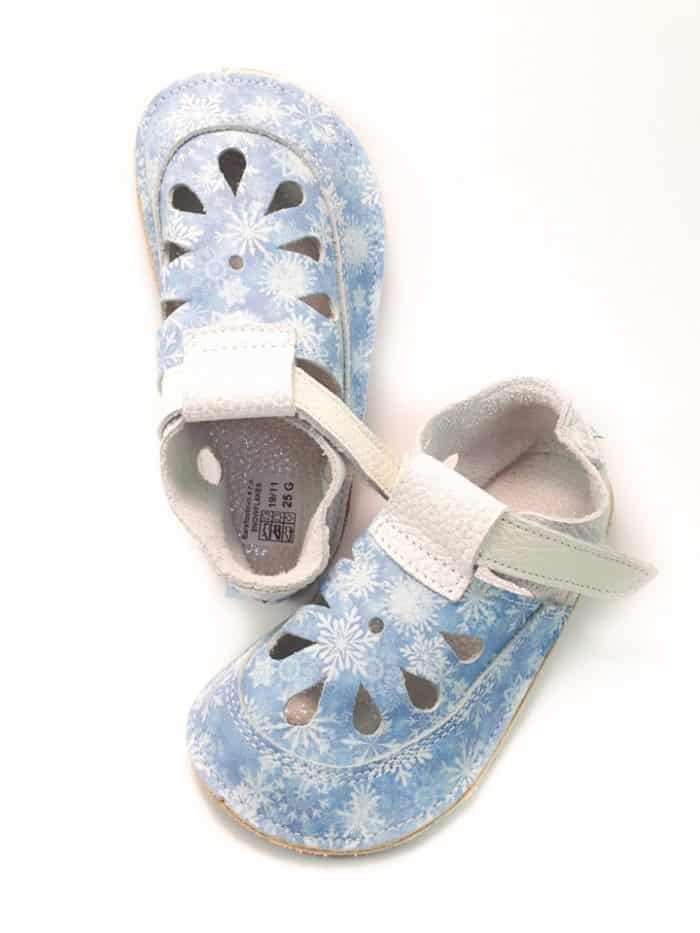 Baby Bare Shoes - Top Stitch - Snowflakes 2