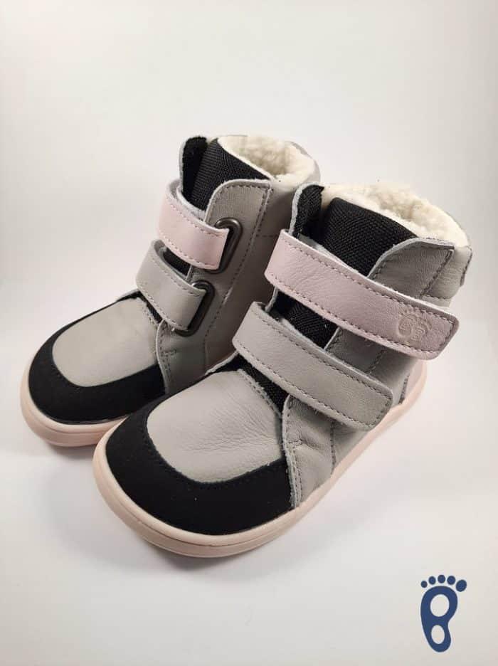 Baby Bare Shoes – Winter s membránou – Grey/Pink asfaltico 2