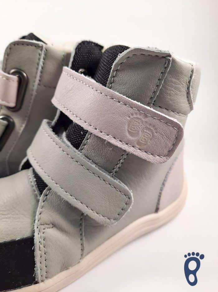 Baby Bare Shoes – Winter s membránou – Grey/Pink asfaltico 3