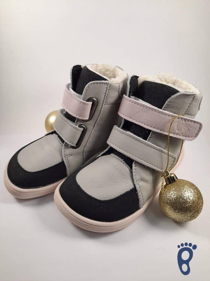 Baby Bare Shoes – Winter s membránou – Grey/Pink asfaltico 4