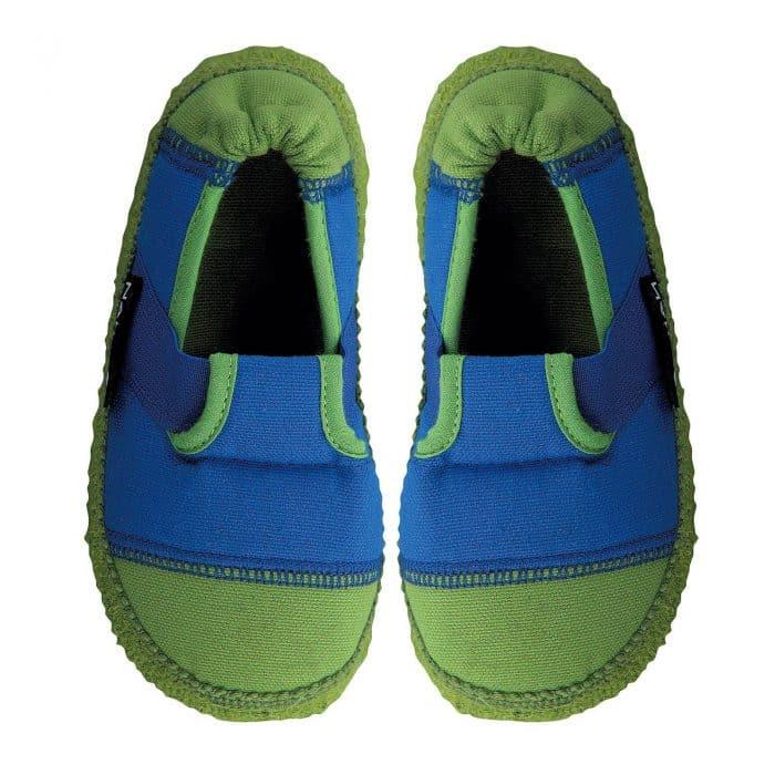 nanga papuce papucky barefoot klette blue blau chlapcenske