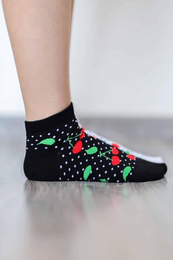 Barefoot ponožky krátke - BeLenka - Čerešne 2