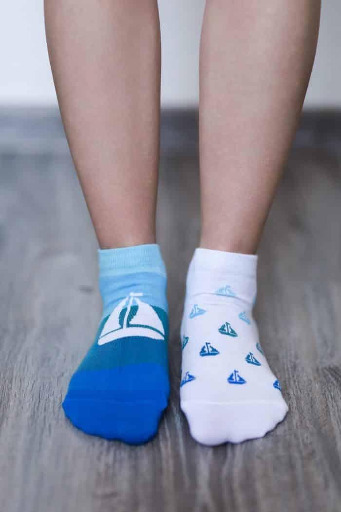 Barefoot ponožky krátke - BeLenka - Loďky 1