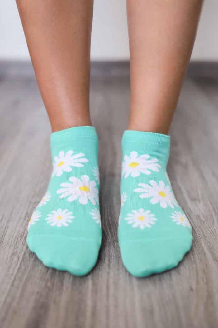Barefoot ponožky krátke - BeLenka - Margarétky 1